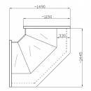 Element de colț interior (90°) NCH SN-W 1,4/1,2