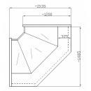 NCH IM W 1,4/1,1 - Hajlított üvegű belső sarokpult (90°)