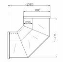 Vitrină de colţ exterior (90°) NCHCZ 1,3/0,9