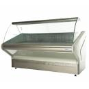 WCHR 1,3/1,1 Refrigerated counter with curved glass