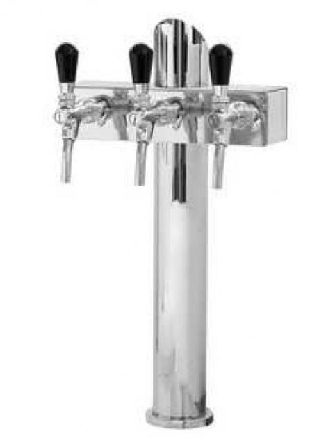 Coloană de bere cu trei robineți