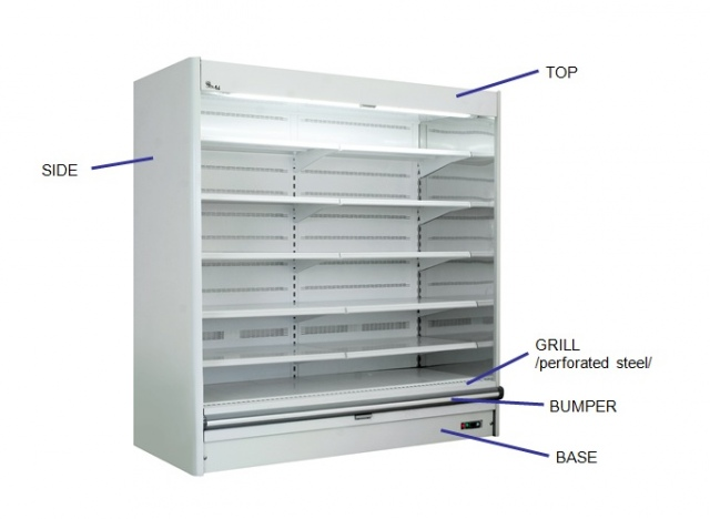 R-1 130/70 PRAGA SLIM Refrigerated wall counter