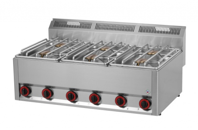 SP 90 GLS - Gas range with 6 burners