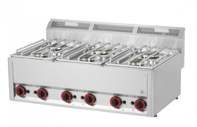 SP 90 GL - Gas range with 6 burners