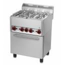 Maşină de gătit cu 4 arzătoare şi cuptor electric | SPT 60 GL