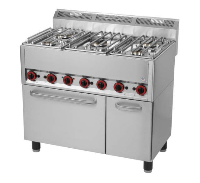 SPT-90/5 GL - Gas range with 5 burners and oven