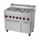 SPT-90/5 GL Maşină de gătit cu 5 arzătoare şi cuptor electric