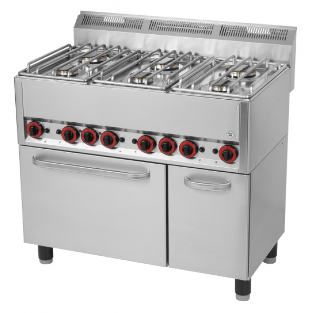 SPT 90 GL - Gas range with 6 burners and oven