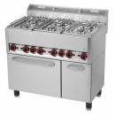 Maşină de gătit cu 6 arzătoare şi cuptor electric | SPT 90 GL