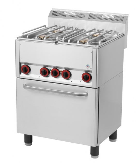 SPT-60 GLS Maşină de gătit cu 4 arzătoare şi cuptor electric