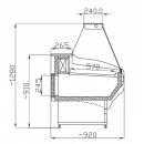 WCHNN 1.3/0.9 - Egyenes üvegű csemegepult