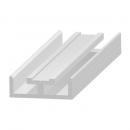 Becsúszó záróprofil peremes csatlakozóhoz - alumínium 20 mm