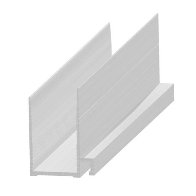 Profil îmbinare tradiţionala sau normală, 20 mm, aluminiu