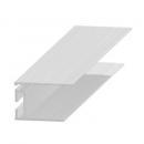 Invisible flange in aluminium 20 mm
