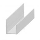 """""""U"""" profile in aluminium 20 mm"""