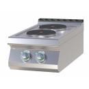 Maşină de gătit electrică cu 2 plite rotunde | SP 704 E