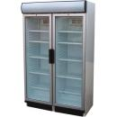 USS 748 D2KL Glass door cooler with double doors and display