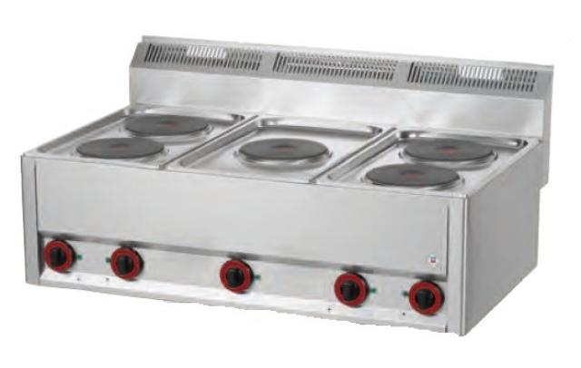 Maşină de gătit electrică cu 5 plite   SP 90/5 ELS