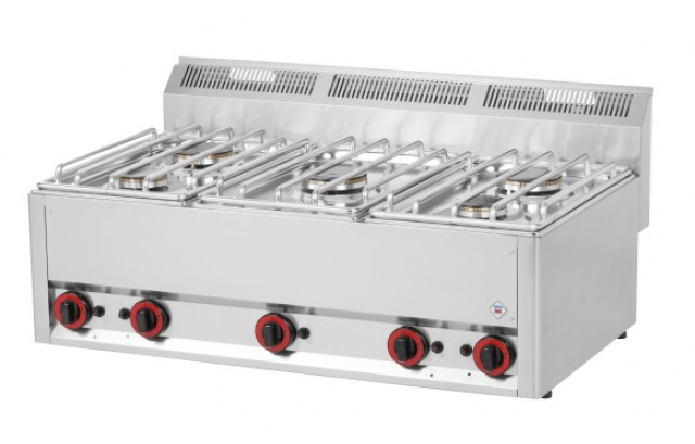 SP 90/5 GL - Gas range with 5 burners