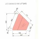 LCC Carina 02 NW - Hűtött belső sarokpult (45°)