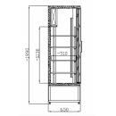 Vitrină frigorifică verticală cu uşi glisante | CC 1200 SGD INOX (SCH 800R)