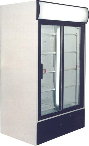 USS 1100 DSC Csúszó üvegajtós, felépítményes hűtővitrin