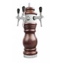Baroco - Coloană de bere cromată cu trei robineți