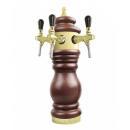 Baroco - Coloană de bere placată cu PVD cu trei robineți