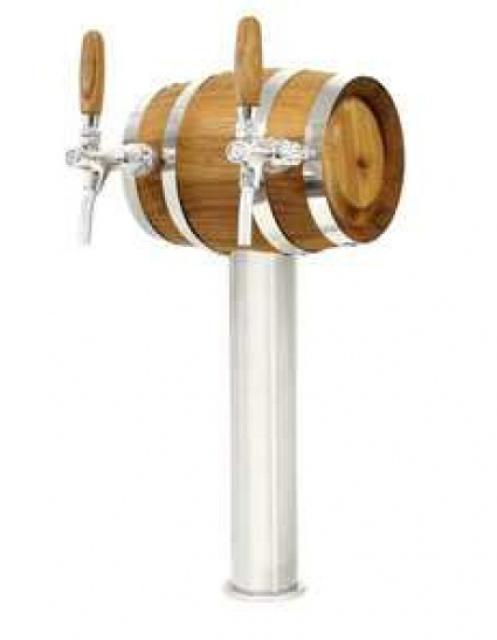 Soudek - Coloană de bere inox, cu doi robineți cromați