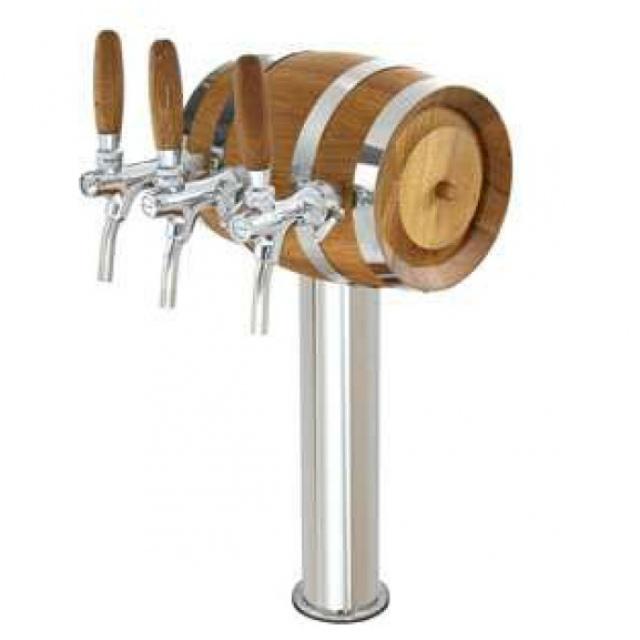 Soudek - Coloană de bere inox, cu trei robineți cromați