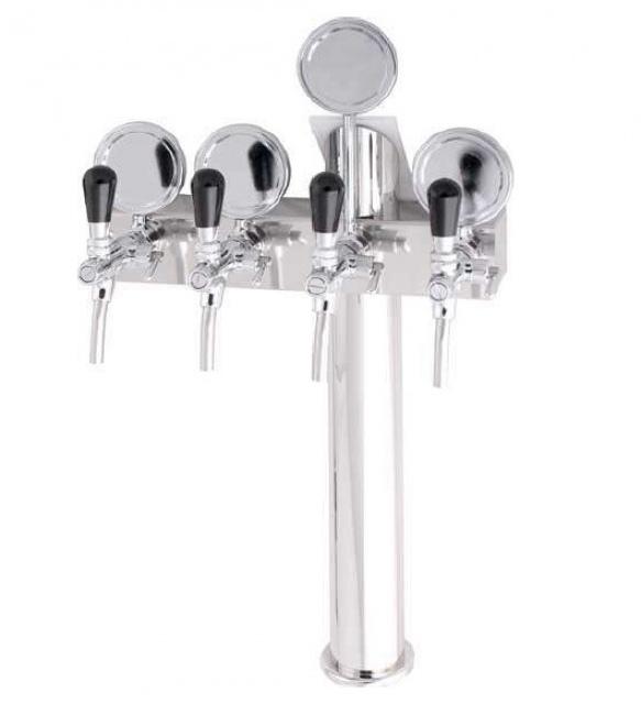 Coloană de bere cu patru robineți și medalioane
