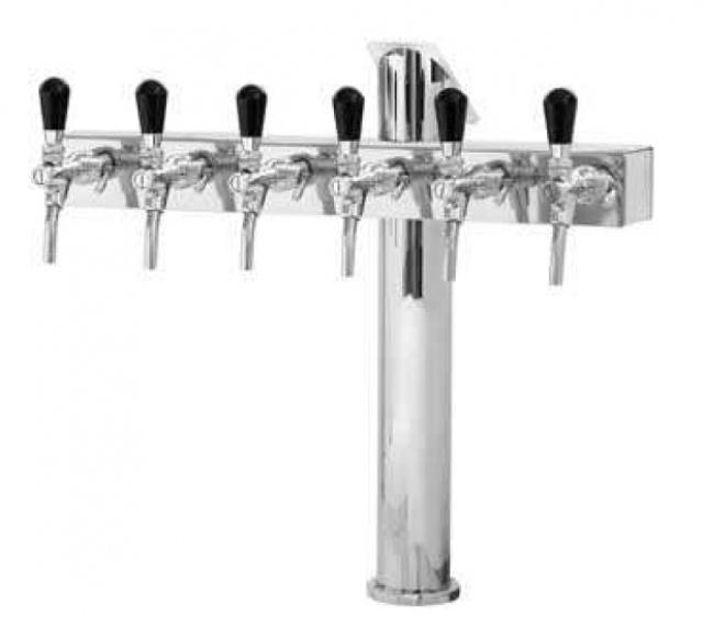 Coloană de bere cu șase robineți