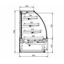 Vitrină frigorifică pentru cofetărie LCC Carina 03 1,0