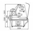Vitrină frigorifică de cofetărie și patiserie WCh-1/C/B 950