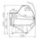 Vitrină frigorifică orizontală cu geam curbat Astoria WCh-6/1B 1,2/1,1 ASTORIA