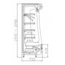 Hűtött faliregál RCh-1-1/B 100 - REGULUS