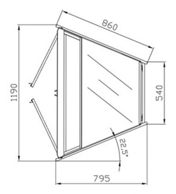Colț intern neutru W-1/CNw-45° AMATEA