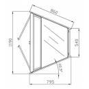 W-1/CNw-45° AMATEA - Neutral internal corner counter