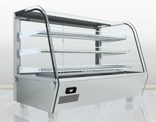 Vitrină caldă pentru expunere produse patiserie RTR 160L