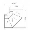 NCH GNN-Z 1.3/0.9 Curved glass external corner counter