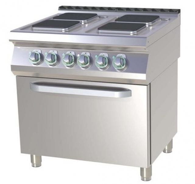 SPQT-780-21 E Mașină de gătit electrică cu 4 plite și cuptor