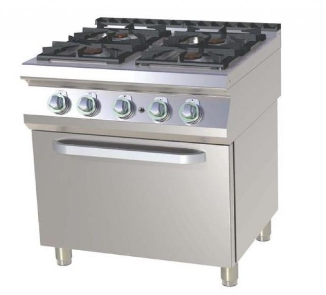 SPST-780-21 GE Maşină de gătit pe gaz cu 4 arzătoare şi cuptor electric