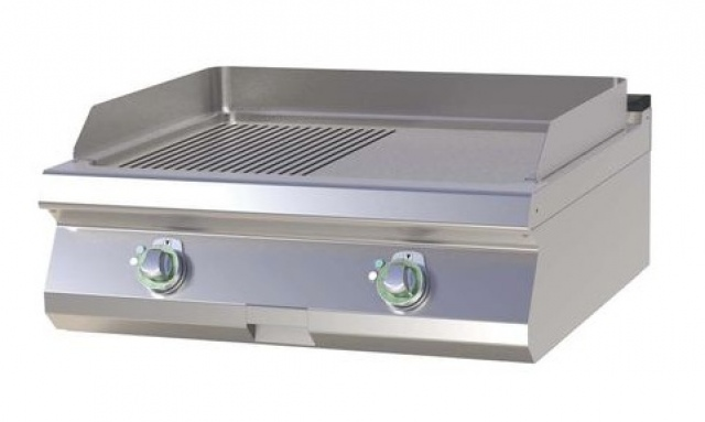 FTHR-708 E - Elektromos szeletsütő 1/2 sima, 1/2 bordázott sütőfelülettel