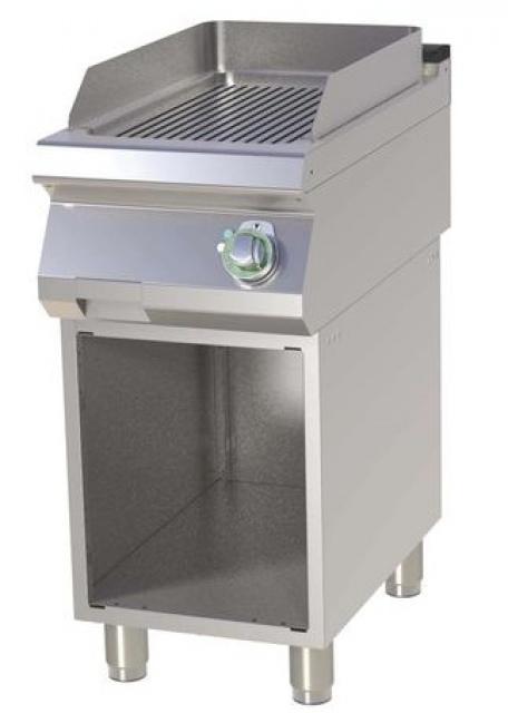 FTR-740 E - Elektromos szeletsütő nyitott alsó tárolóval és bordázott sütőfelülettel