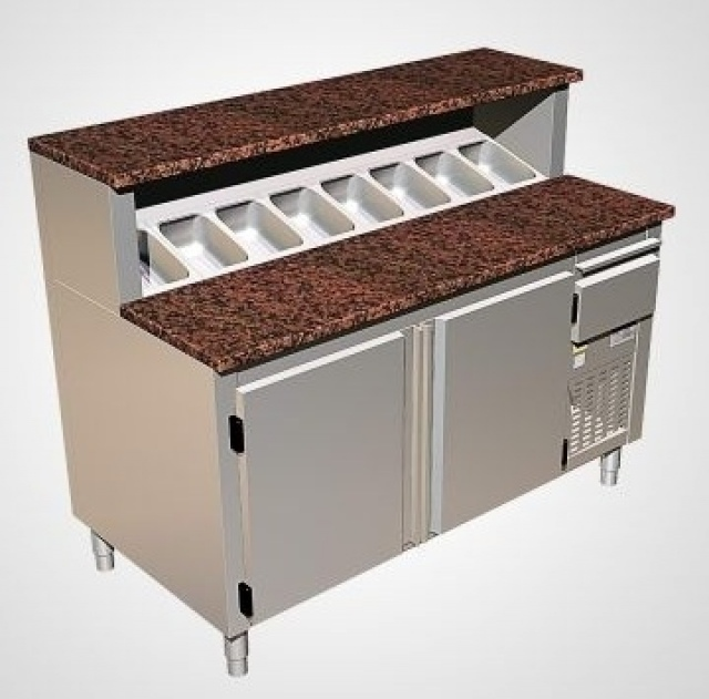 SP 1,0 - refrigerated pizza table