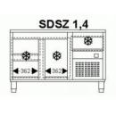 SDSZ 1,4 - Hűtött munkaasztal 1 ajtóval, 3 fiókkal