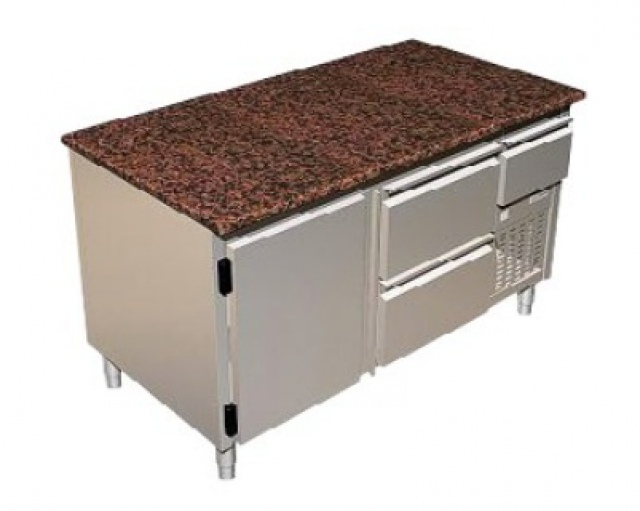 SDSZ 1,4 - Refrigerated table with 1 door, 3 drawers