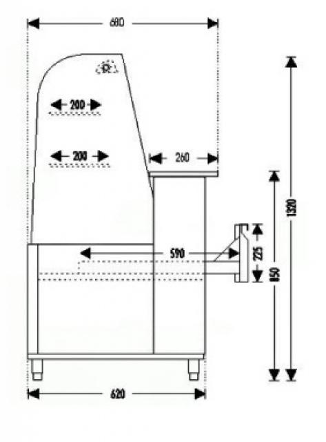 WCHCG INOX 1,3 - Confectionary counter