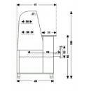 Vitrină frigorifică de cofetărie și patiserie INOX WCHCG 1,3