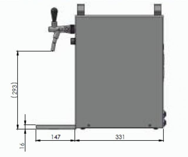 KONTAKT 40 1 tap - Dry contact 1 coiled beer cooler
